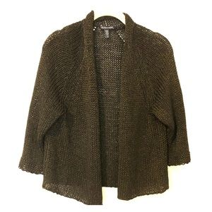 Beautiful Eileen Fisher Cardigan with gold shimmer